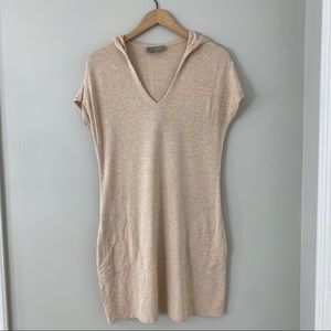 Athleta Run Along Short Sleeve Hooded Dress